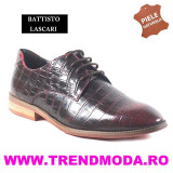 "Pantofi barbati piele naturala OTTO JONES rosu lac ""croco"" (Marime: 44)"
