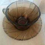 Set 5 cesti de cafea plus farfurioare