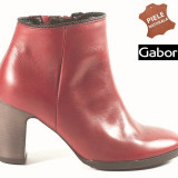 Botine dama piele naturala Gabor rosu (Marime: 35.5) - Ghete dama