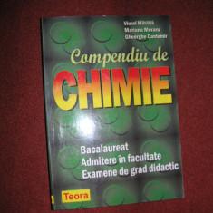 Compendiu de chimie ~ Bacalaureat, Admitere in facultate ~ Viorel Mihaila - Carte Chimie