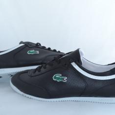 Lacoste model nou - Adidasi barbati Lacoste, Marime: 36, 37, 38, 39, 40, 41, 42, 43, 44, Culoare: Negru, Piele sintetica