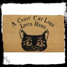 Preș ușă intrare Femeie nebună cu pisici