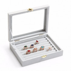 Caseta inele bijuterii cutie inele cutie prezentare inele butoni cercei - Cutie Bijuterii