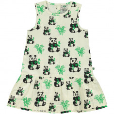 Rochie fara maneci Smafolk, cu ursuleti panda, fetite, multicolora, 3-4 ani
