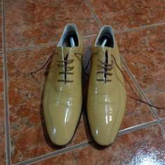 Pantofi eleganti Catalin Botezatu, Geno del Tu - Pantofi barbati, Marime: 42, Culoare: Bej