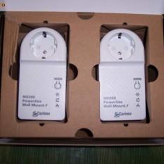 Adaptor Powerline CORINEX HomeNet Power Plug HD200 - Internet prin priza de 220V - Adaptoar PowerLAN