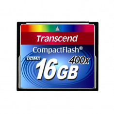 Card Transcend Compact Flash 16GB 400x - Card memorie