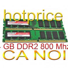 Memorie 4GB RAM DDR2 4 GB INTEL AMD 2x 2 GB PC2-6400 DDR2-800Mhz 240 pin desktop - Memorie RAM
