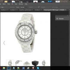 CHANEL J12 White Ceramic ceas femei - Ochelari de soare Chanel