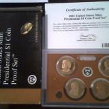 Monede de 1$ - presedinti USA - SET DE 4 MONEDE PROF - AN 2011, America de Nord