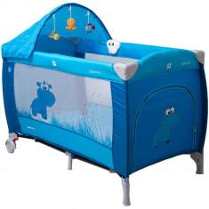 Pat pliant Samba Lux - Coto Baby - Albastru - Tarc de joaca