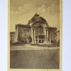 CARTE POSTALA CIRCULATA CERNAUTI/BUCOVINA, TEATRUL NATIONAL 1936 - Carte Postala Bucovina 1904-1918, Printata
