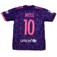 Tricou BARCELONA model 2016-2017, NR 10 MESSI - Tricou echipa fotbal, Marime: L, M, S, XL, XS, Culoare: Din imagine, De club, Maneca scurta