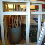 GEAM (fereastra) termopan GEALAN L=76xH=122 cm, geamul cu tenta maronie fabrica