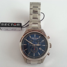 Ceas original SECTOR 290 Designed in Italy chrono movement stainless steel 10atm - Ceas barbatesc Sector, Inox, 100 m / 10 ATM