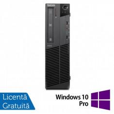 Calculatoare Lenovo Thinkcentre M91p SFF, Intel Core i5-2400, 3.1GHz, 4Gb DDR3, 320Gb HDD, DVD-RW + Windows 10 Pro - Sisteme desktop fara monitor