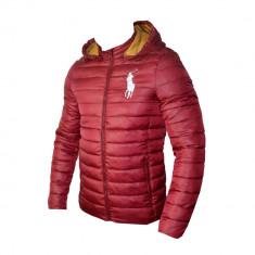 Geaca Barbati Ralph Lauren Model De Toamna Cod Produs D603, Marime: L, XL, XXL, Culoare: Visiniu, Microfibra