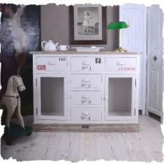 COMODA PENTRU BUCATARIE ALBA CU BLAT MARO - Mobilier, Comode si bufete