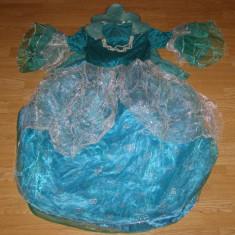Costum carnaval serbare rochie regala printesa pentru copii de 10-11-12 ani - Costum Halloween, Marime: Masura unica, Culoare: Din imagine