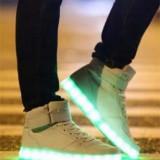 Ghete Adidasi LED  - UNISEX, alb si negru