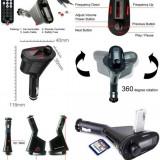 Modulator FM AllWinner GTS 2200, USB, AUX, Card, MP3 Player -Verde/Rosu/Albastru