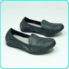 DE FIRMA _ Mocasini / pantofi dama, DIN PIELE, extracomozi GABOR _ femei | nr 40 - Mocasini dama Gabor, Culoare: Antracit, Piele naturala