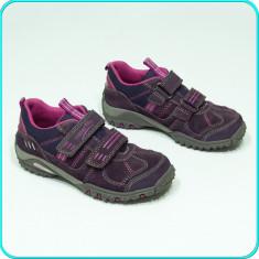 DE FIRMA _ Pantofi sport, PIELE, aerisiti-impermeabili, SUPERFIT _ fete | nr. 29 - Pantofi copii, Culoare: Mov, Piele naturala