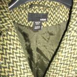 Paltonas H&M din lana, mar. M - Palton dama, Marime: M, Culoare: Verde