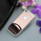 Husa Slim TPU Oglinda/Mirror ROSE/Roz iPhone 5/5s/SE
