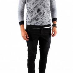 Bluza fashion gri - bluza barbati - cod produs: 7085, Marime: S, M, L, XL, Culoare: Din imagine