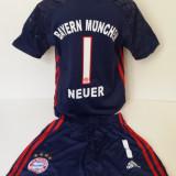 Echipamente portar Bayern Munchen - Neuer set fotbal pentru copii model nou 2016 - Set echipament fotbal, Marime: Alta