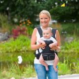Marsupiu bebelusi Hauck 3 Way Carrier negru/Port bebe nou nascuti pana la 12 L
