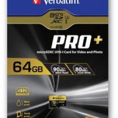 Card microSDXC Verbatim Pro+ 64GB Class 10