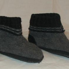 Papuci casa copii lana - nr 28 - Papuci copii, Marime: 27, Culoare: Din imagine