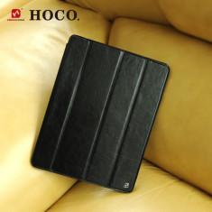 Husa / toc LUX piele fina HOCO Crystal, iPad 2 3 4, smart cover, NEGRU - Husa Tableta